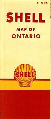 1950 Shell Road Map: Ontario (header) NOS