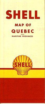 1950 Shell Road Map: Quebec and Maritime Provinces (no header) NOS