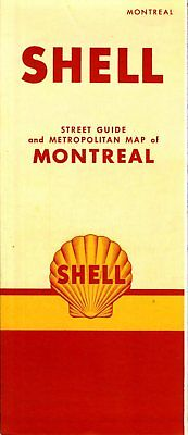 1950 Shell Road Map: Montreal (header) NOS