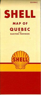 1950 Shell Road Map: Quebec and Maritime Provinces (header) NOS