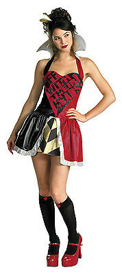 Alice in Wonderland Queen Of Hearts Costume Size Teen 7-9
