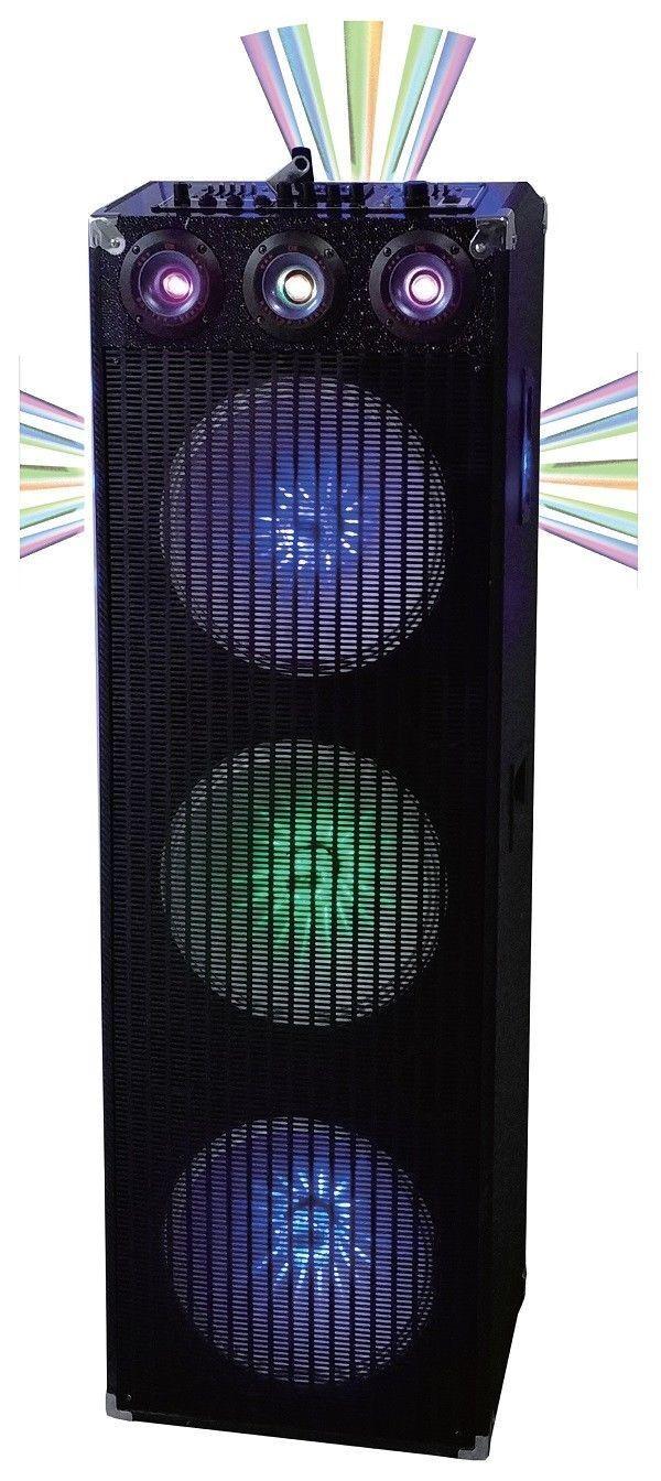 QFX SBX-412303BTL Cabinet Speaker with Built-In Amplifier