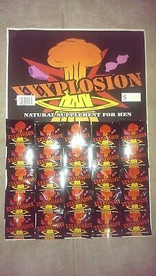 XXXPLOSION / 50 Pills & 2 Poster / Male Enhancement / New / Free Shipping US