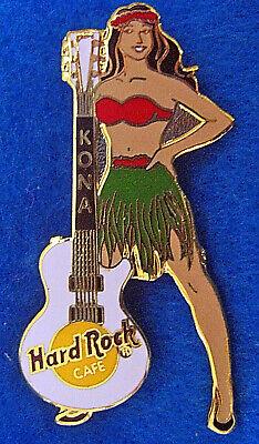 Kona Hawaii Prototype Hula Girl Weiß Gibson Gitarre Hard Rock Café Anstecker