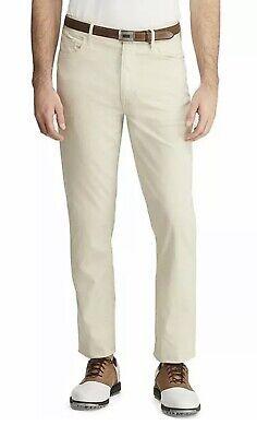 POLO GOLF Ralph Lauren Men 40x32 Tailored Fit Performance Stretch Pants $98 SAND