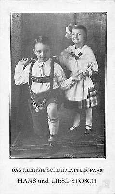 Hans and Liesl Stosch Schuhplatter Children Dancers Antique Postcard J49392