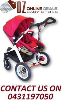 STYLISH ALUMINIUM FRAME BABY PRAM STROLLER BASSINET WITH 4 WHEELS Point Cook Wyndham Area Preview