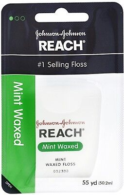 (REACH Mint Waxed Floss 55 Yards (Pack of 8))