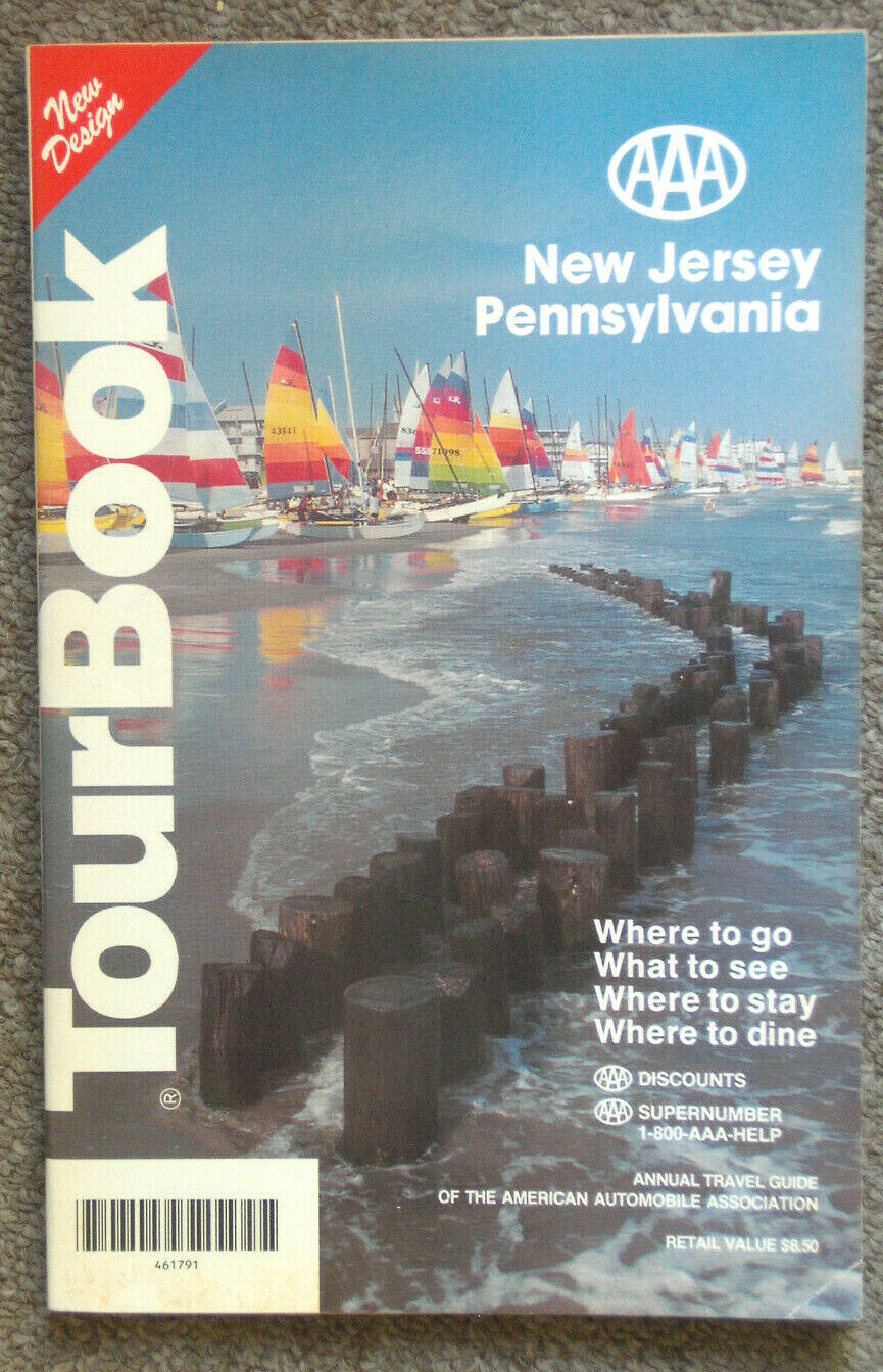 Vintage AAA Tour Book New Jersey / Pennsylvania 1992 Edition - $0.99
