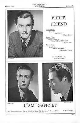 1939 Philip Friend Liam Gaffney Tom Gill Terence Plunket (Phillip Liam)