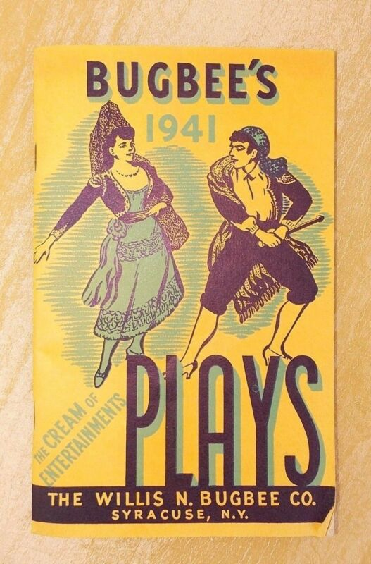 Willis N Bugbee's Plays Catalog 1941 Syracuse NY Novelty Entertainment Theater