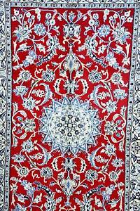 FINE & RARE FLORAL DESIGN HAND WOVEN PERSIAN NAIN RUG CARPET Bunbury Bunbury Area Preview