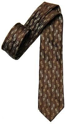 1960s – 70s Men's Ties | Skinny Ties, Slim Ties Vintage 1960s Skinny Tie Brown Tan White Rich's Department Store Men's Short $18.00 AT vintagedancer.com