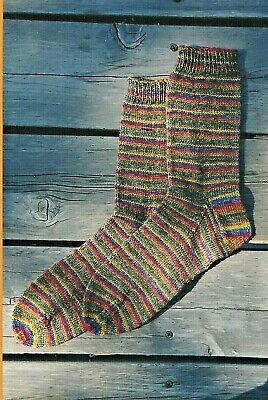 Beginner's Lightweight Socks Knitting Pure & Simple Easy Pattern #216 Adults