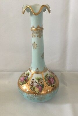 (Vintage Arnart Creation Japan Flower Bud Vase Handpainted Renaissanc)