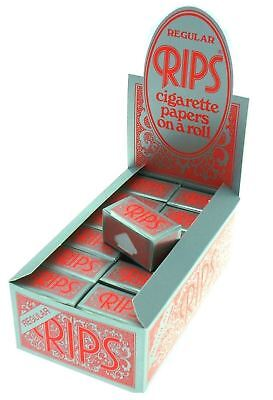 Full Box of 24 Rolls RIPS Red Regular Size Rolling Paper 37mm Wide Only £15.49 ()