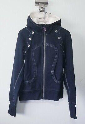 Lululemon Scuba Hoodie Vest Size 6 Black Plush Hood Special Edition Removable