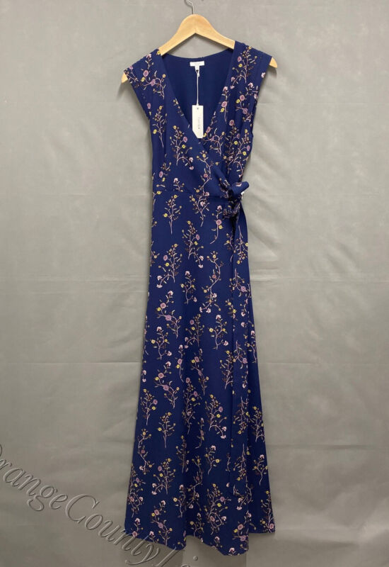 Womens Tavik Ellette Maxi Dress Evening Blue Garden Floral Size L Large