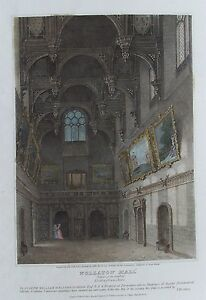 OLD-PRINT-WOLLATON-HALL-NOTTINGHAM-c1809-GREAT-HALL-by-ROFFE-ANTIQUE-ENGRAVING