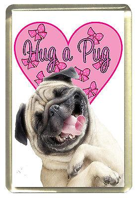 Hug a Pug Fridge Magnet,