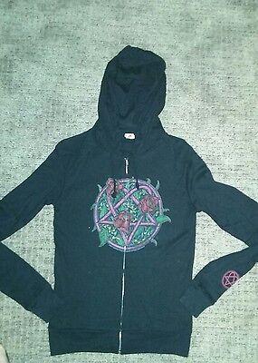 HIM heartagram tshirt zip up hoodie sweatshirt VILLE VALO S womens NWOT