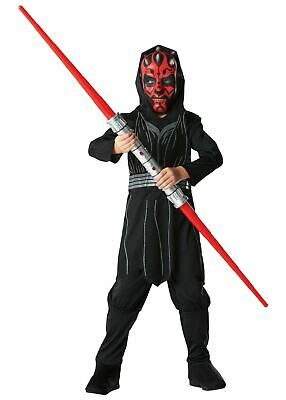 Boys Darth Maul Costume Kids Disney Star Wars Fancy Dress Outfit Licensed