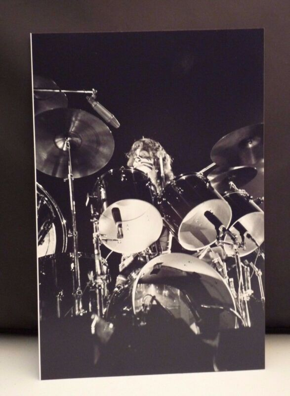 Kiss 1977 L.A. Forum Peter Criss Candid Live 8x12 Photo From Original Negative