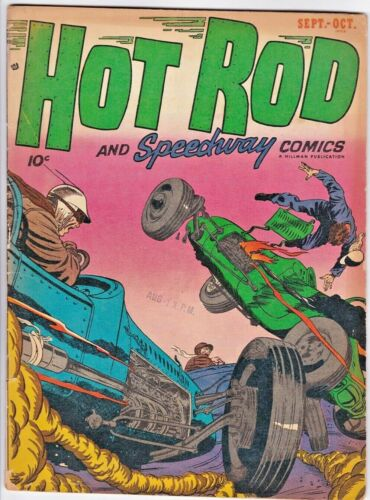 HOT ROD AND SPEEDWAY COMICS # 2 (HILLMAN-1952) MORT LAWRENCE