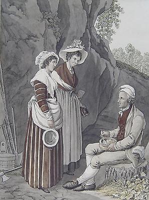 Costumes des environs du Lac de Neuchatel Joseph Reinhart Schweiz Luzern Concise