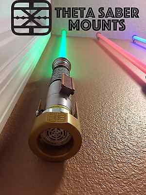 LightSaber Stand, Wall, Desk Mount, Fits Star Wars FX, Replicas, & Custom Sabers