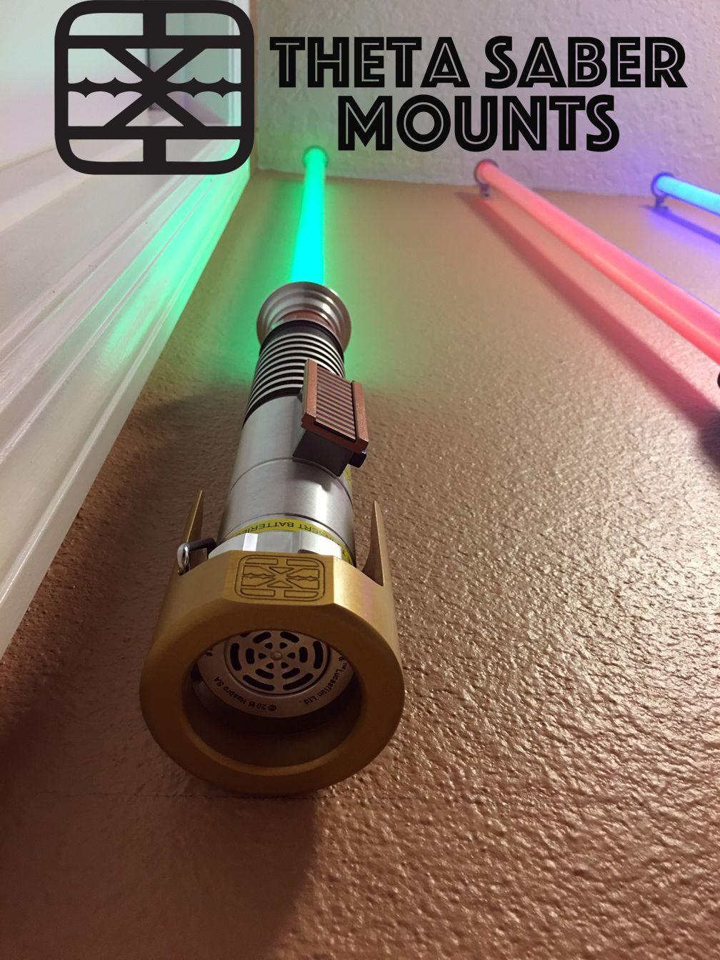 LightSaber Stand, Wall, Desk Mount, Fits Star Wars FX, Replicas, & Custom Sabers