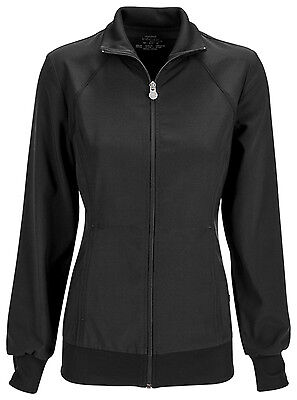 Black Antimicrobial (Black Cherokee Scrubs Infinity Zip Front Warm Up Jacket 2391A BAPS Antimicrobial )
