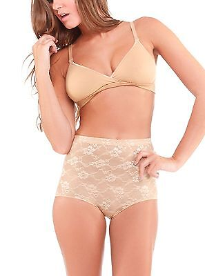Cosabella Floral Panties (COSABELLA GLAM SHAPEWEAR FLORAL LACE BRIEF PANTY NUDE #GLAMS2101 X SMALL NEW)