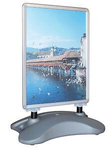 Kundenstopper A1 Werbeaufsteller Plakatständer Alu mit Sand / Wasser befüllbar