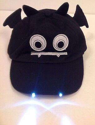 Halloween Flashlight Hat baseball cap Vampire Bat Child Toddler Costume safety - Flashlight Halloween Costume