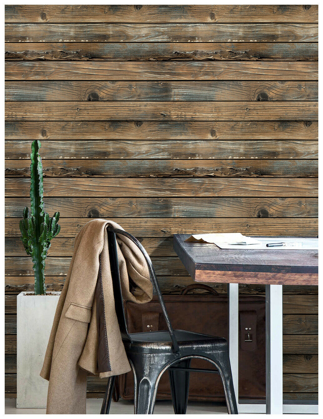 3d Peel And Stick Wood Wallpaper Brown Self Adhesive Contact