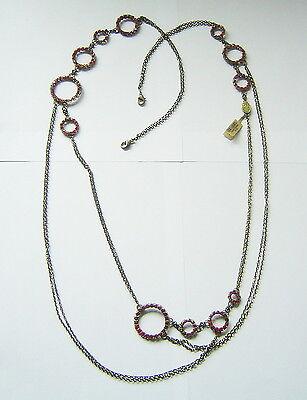 KONPLOTT Kette / Collier aus der Creole Crystal  red / antique bronce