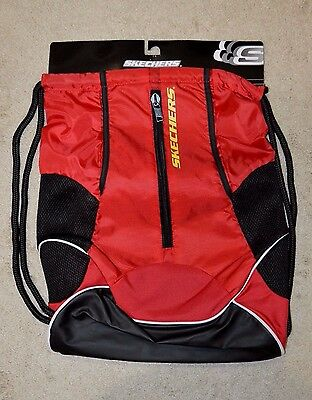 Skechers Black / Red / Yellow Drawstring Gym Bag - Unisex