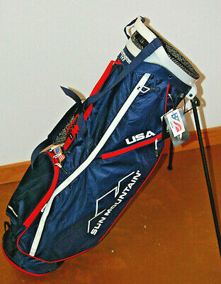 Sun Mountain 2.5+ USA 4-Way Stand Bag - Navy / Red / White *MINT*