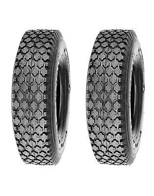 - Pack of 2, Deli Tire 4.10/3.50-6, Stud, 4 Ply, Tubeless, Lawn Garden Tires