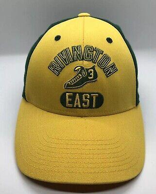 Rivington East 3 Cap Hat Fitted Size S/M Flex Fit Yellow Green 3 Flex Fit Cap