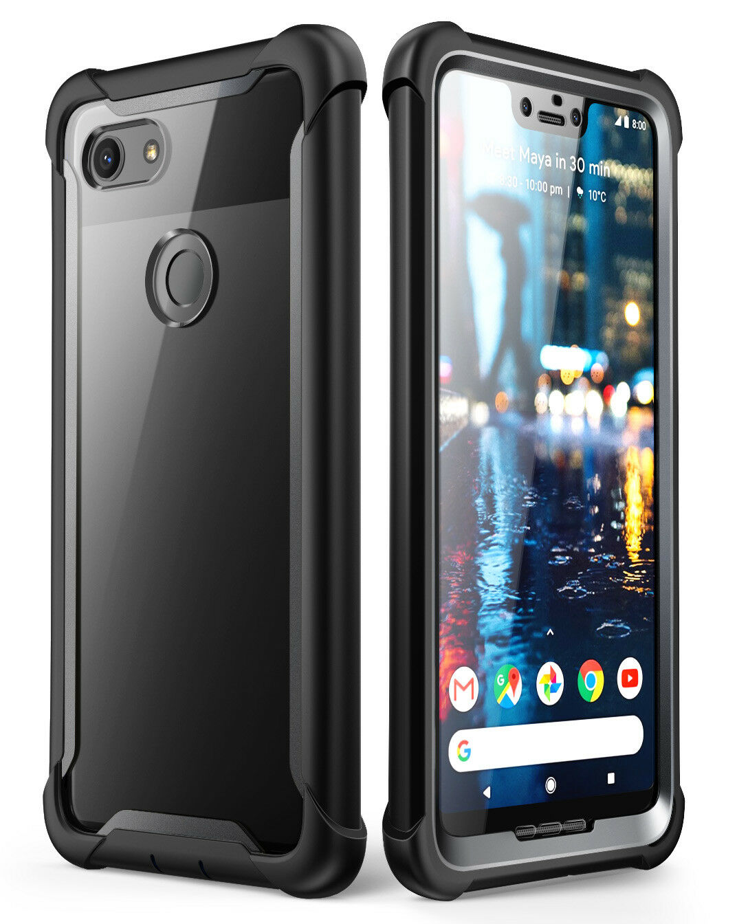 Details about For Google Pixel 3XL Case i-Blason [Ares] Full-Body Cover  with Screen Protector