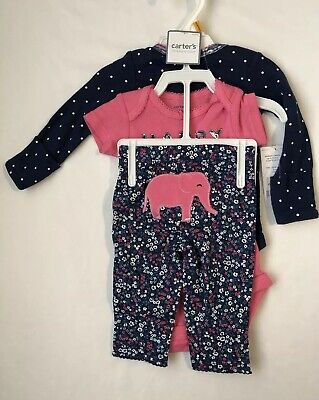 Baby Girl Elephant Theme (Carter's NWT Infant Girl Elephant Themed Cotton Outfit)