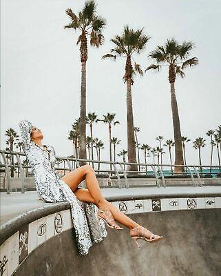 Zara Vestido de Lentejuelas Chaqueta Abrigo Sequinned TALLA S segunda mano  Embacar hacia Mexico