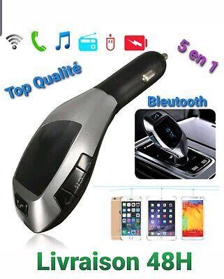 X5 Bluetooth Transmetteur FM Sans Fil Radio Adaptateur MP3 USB Chargeur / NEUF