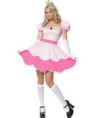 Pretty Pink Princess Peach Mario Outfit Cartoon Characters Costume Adult - Cartoon Characters Outfits
