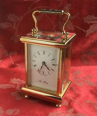 Beautiful Heavy John Morley  Carriage Clock Running Strong Freepost