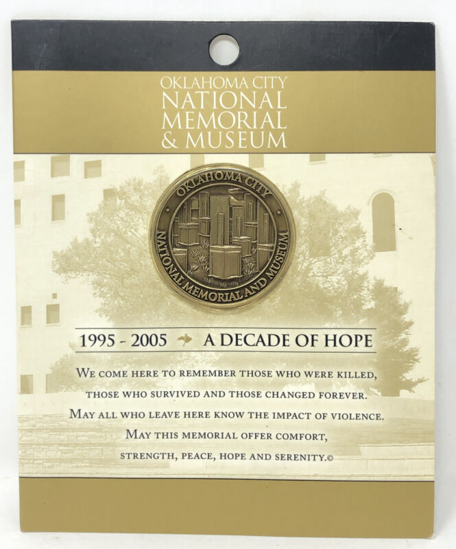 Collectible Coin Oklahoma City Memorial Museum 2005 10th Anniversary Of Bombing