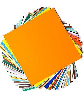 "Permanent Adhesive Backed Vinyl Sheets By EZ Craft USA - 12"" X 12"" -40 Sheets"