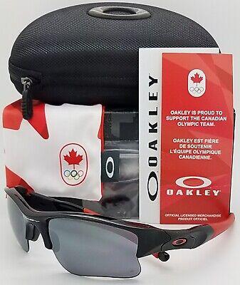 NEW Oakley Flak Jacket XLJ COC sunglasses 24-406 Black Iridium AUTHENTIC (Sunglass Canada)